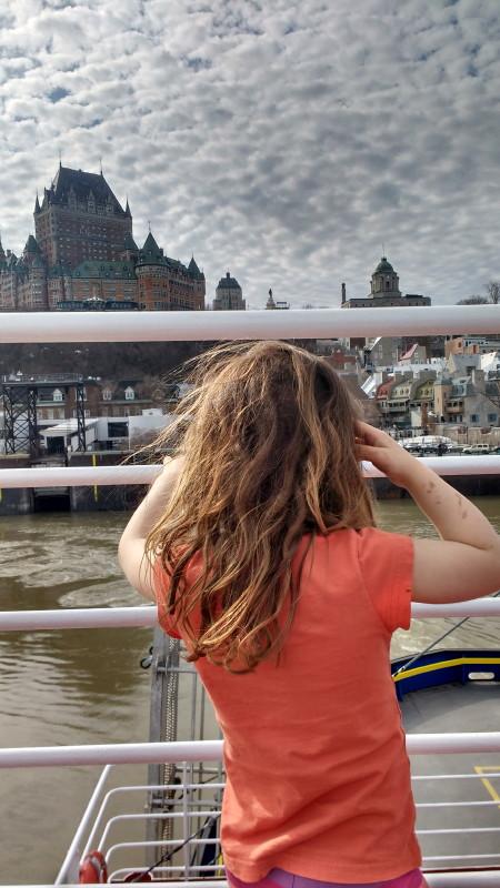 Sur le traversier Québec - Lévis