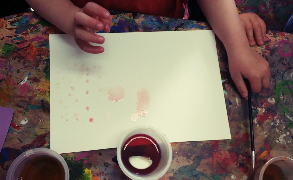 Peindre avec du jus de betterave