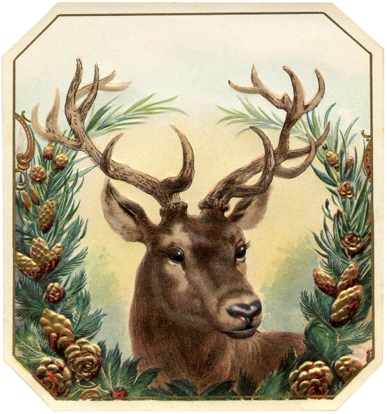 Free-Vintage-Christmas-Image-Deer-GraphicsFairy